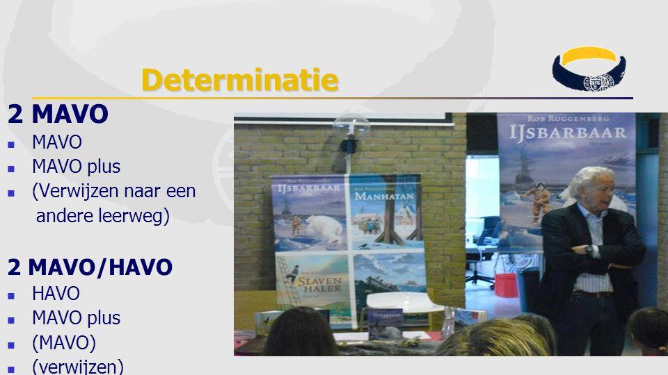 Determinatie 2 MAVO MAVO MAVO plus (Verwijzen naar een andere leerweg) 2 MAVO/HAVO HAVO MAVO plus (MAVO) (verwijzen)