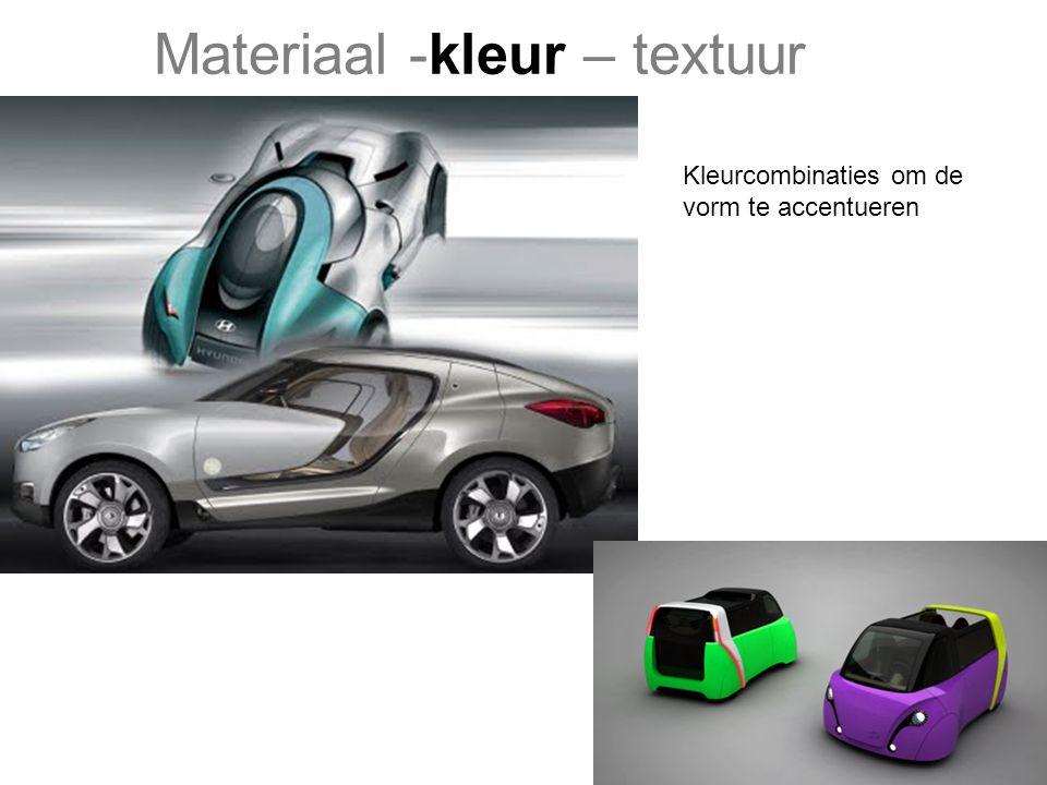 Materiaal -kleur – textuur Combineren van glans, mat in diverse texturen