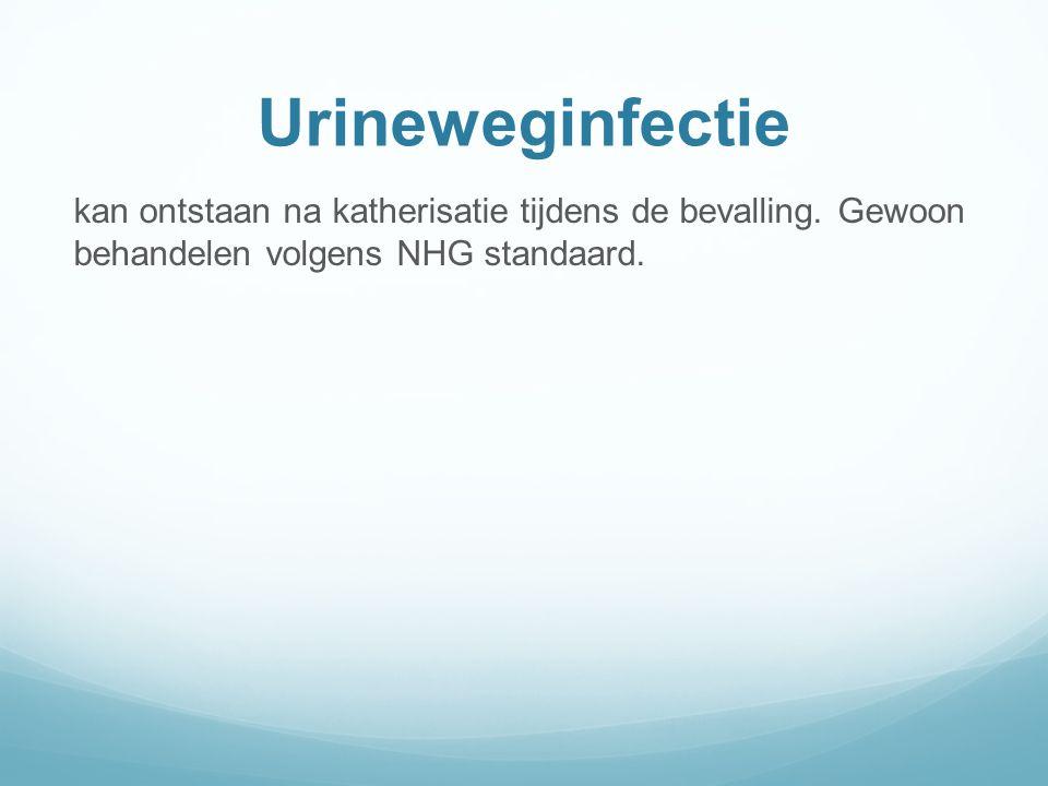 Urineweginfectie kan ontstaan na katherisatie tijdens de bevalling.