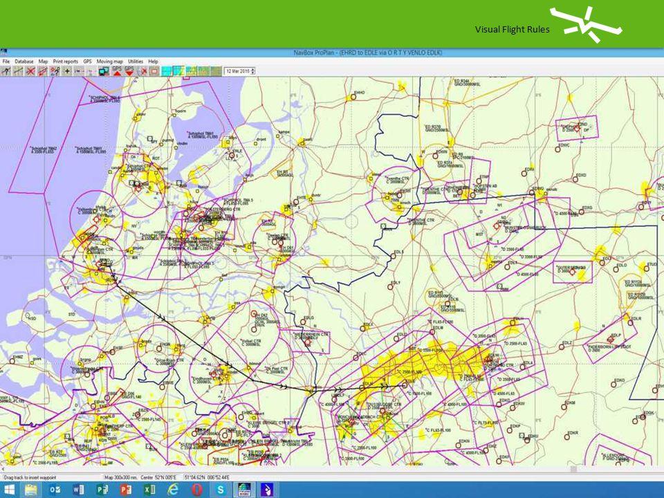 Visual Flight Rules Vlucht Rotterdam naar Essen-Mühlheim EHRDEDLE