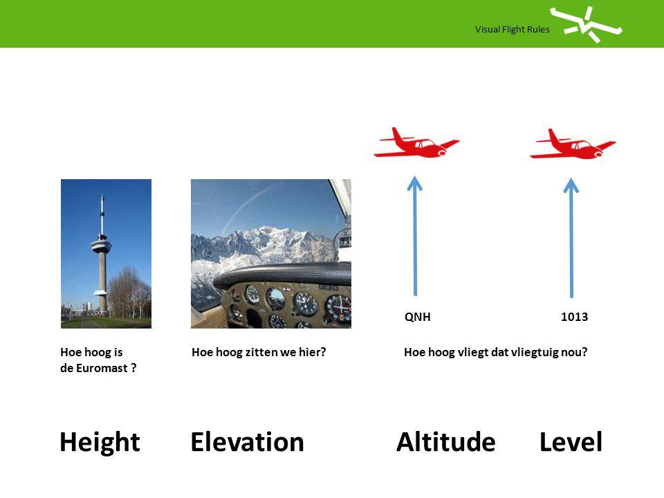 Visual Flight Rules Vluchtvoorbereiding IFR SID + Route (+kaarten) STAR (+ kaarten ) ILS of VOR/DME ( kaarten ) TA= Transition Altitude TL= Transition Level TL= Transition Layer QNH= altitude QNE= flightlevel QNF= height