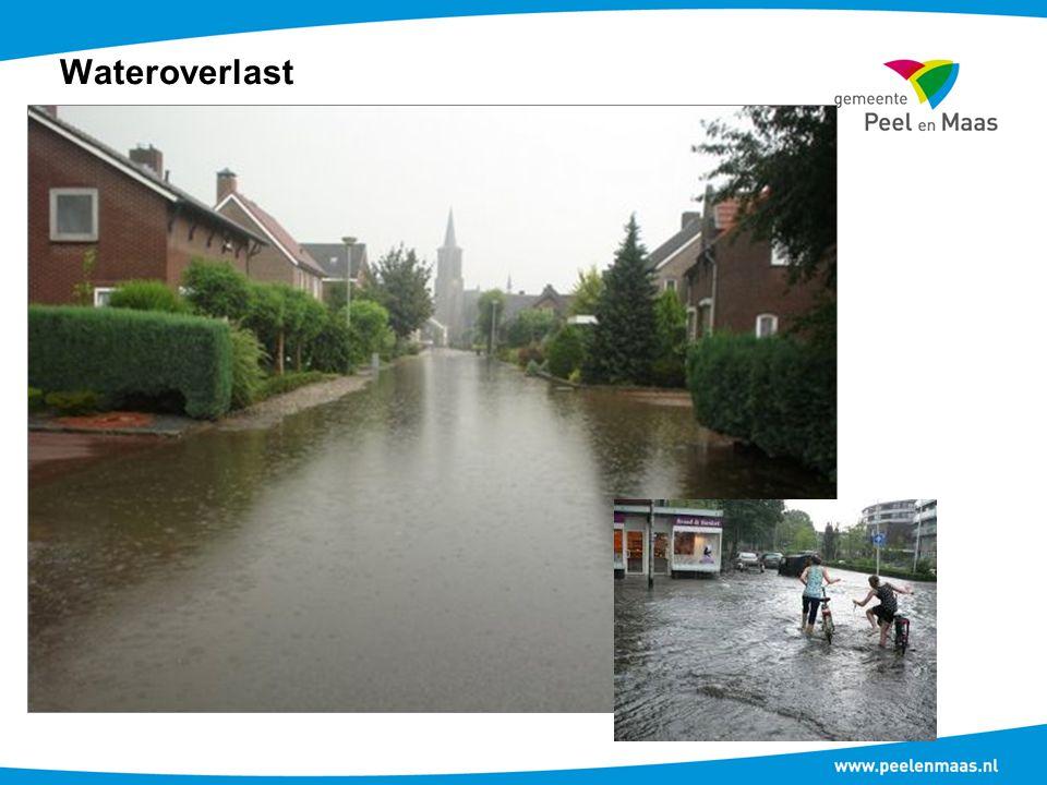 Duurzaam waterbeheer Regenwater scheiden van het vuilwaterriool Oppervlak van Everlosebeekstraat onder vrijverval naar de beek Afkoppelen voorkant dak oppervlakken particulieren