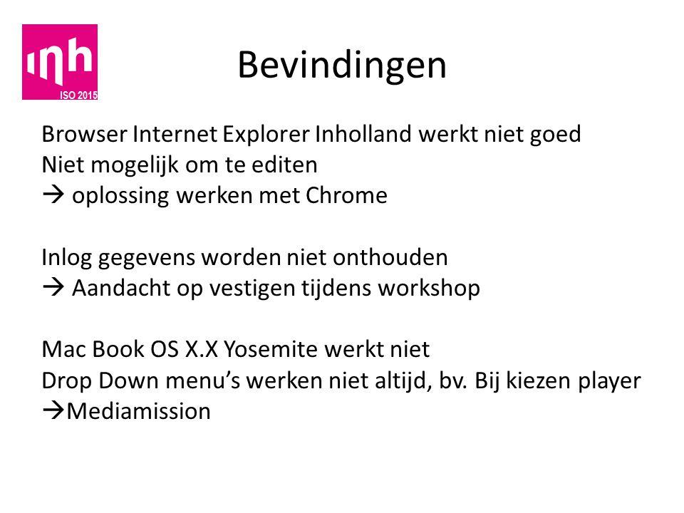 Bevindingen Browser Internet Explorer Inholland werkt niet goed Niet mogelijk om te editen  oplossing werken met Chrome Inlog gegevens worden niet on
