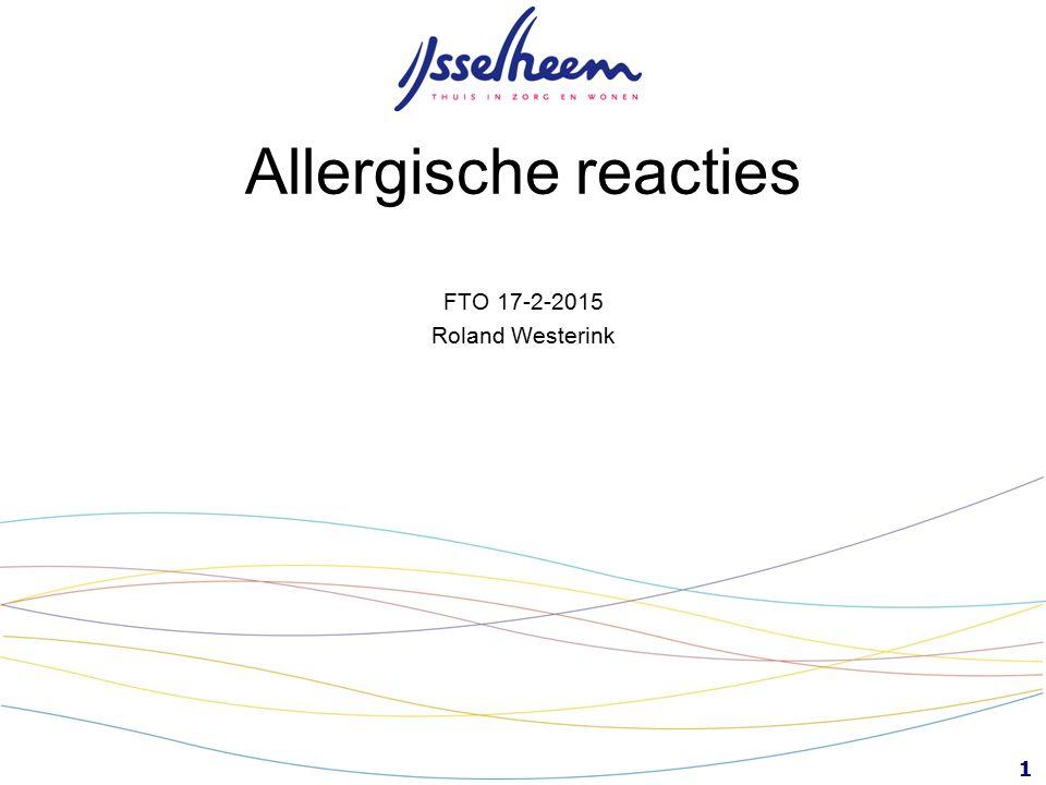 1 Allergische reacties FTO 17-2-2015 Roland Westerink