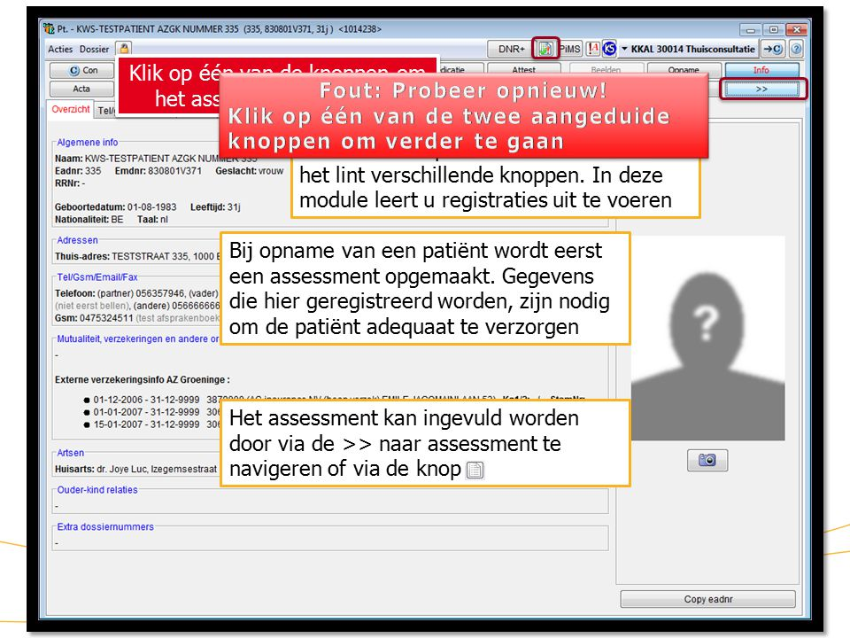 4 KWS: lint/ Assessment (2) Dit is de pagina van het assessment.