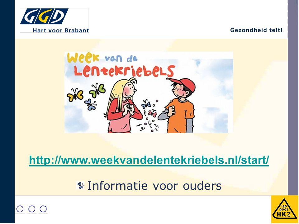 http://www.weekvandelentekriebels.nl/start/ Informatie voor ouders