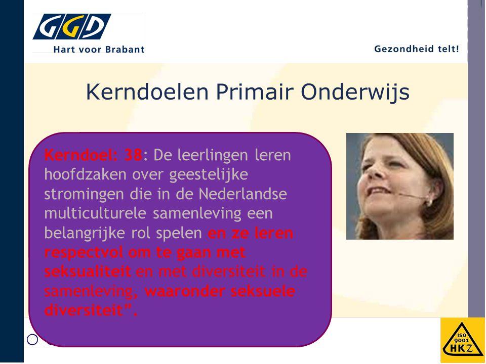 Kerndoelen Primair Onderwijs Kerndoel: 38: De leerlingen leren hoofdzaken over geestelijke stromingen die in de Nederlandse multiculturele samenleving