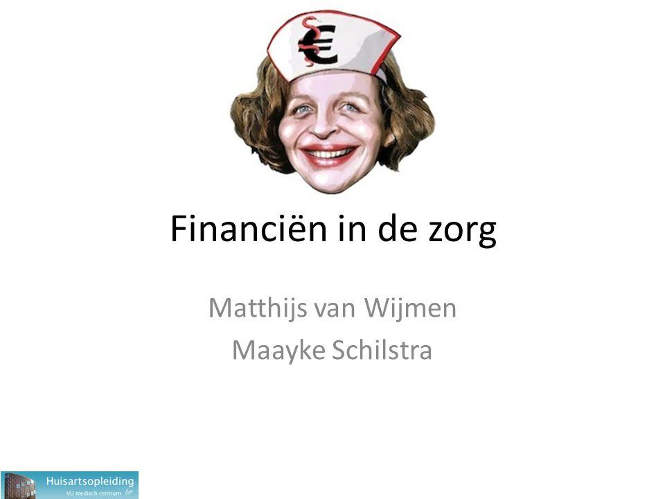 Financiën in de zorg Matthijs van Wijmen Maayke Schilstra