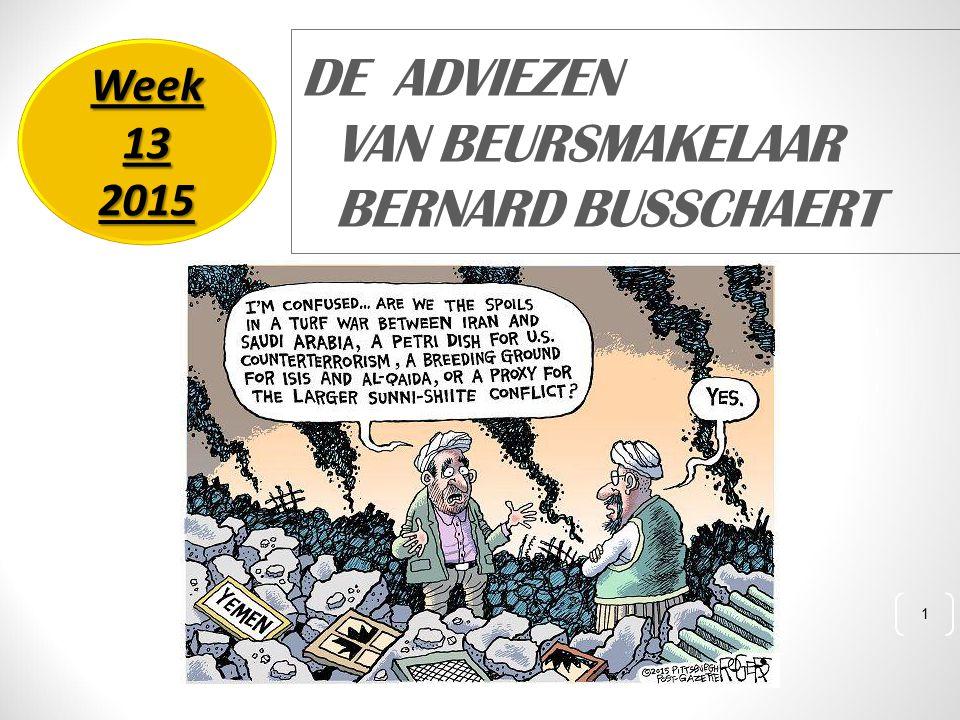 1 DE ADVIEZEN VAN BEURSMAKELAAR BERNARD BUSSCHAERT Week 13 2015