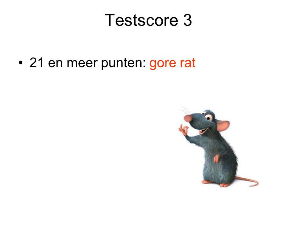 Testscore 3 21 en meer punten: gore rat