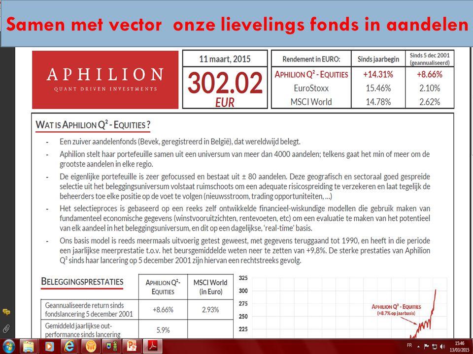 14/04/2015 31 Samen met vector onze lievelings fonds in aandelen