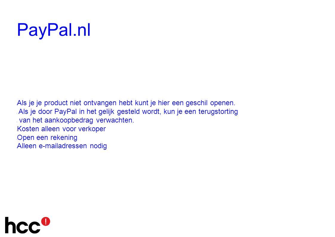 PayPal.nl l Als je je product niet ontvangen hebt kunt je hier een geschil openen.