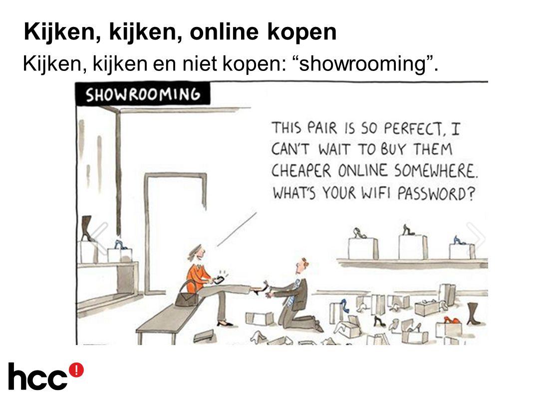 Kijken, kijken, online kopen Kijken, kijken en niet kopen: showrooming .
