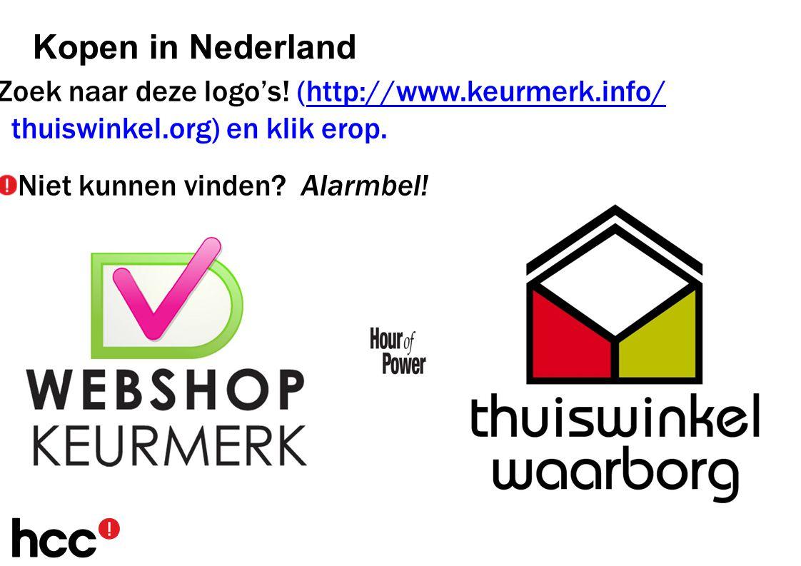 Zoek naar deze logo's.