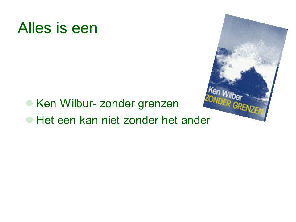 Alles is een Ken Wilbur- zonder grenzen Het een kan niet zonder het ander