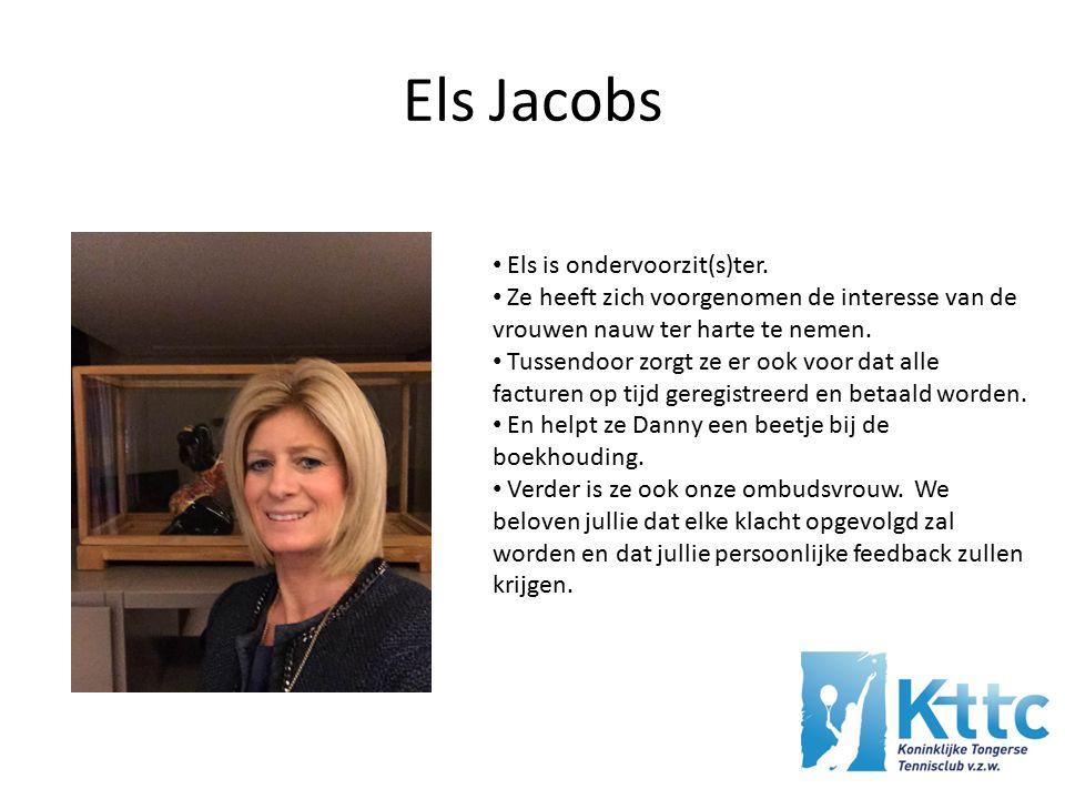 Els Jacobs Els is ondervoorzit(s)ter.
