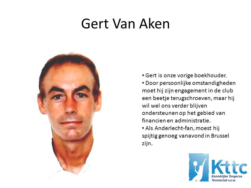 Gert Van Aken Gert is onze vorige boekhouder.