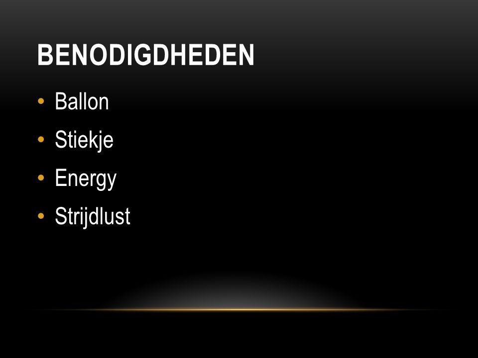 BENODIGDHEDEN Ballon Stiekje Energy Strijdlust