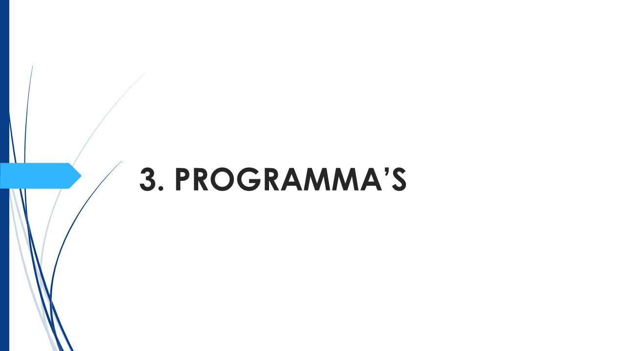 3. PROGRAMMA'S
