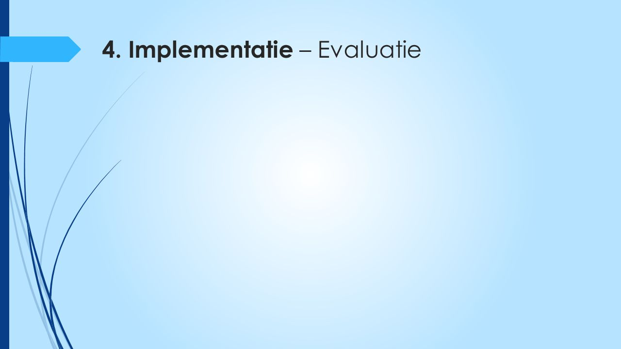 4. Implementatie – Evaluatie