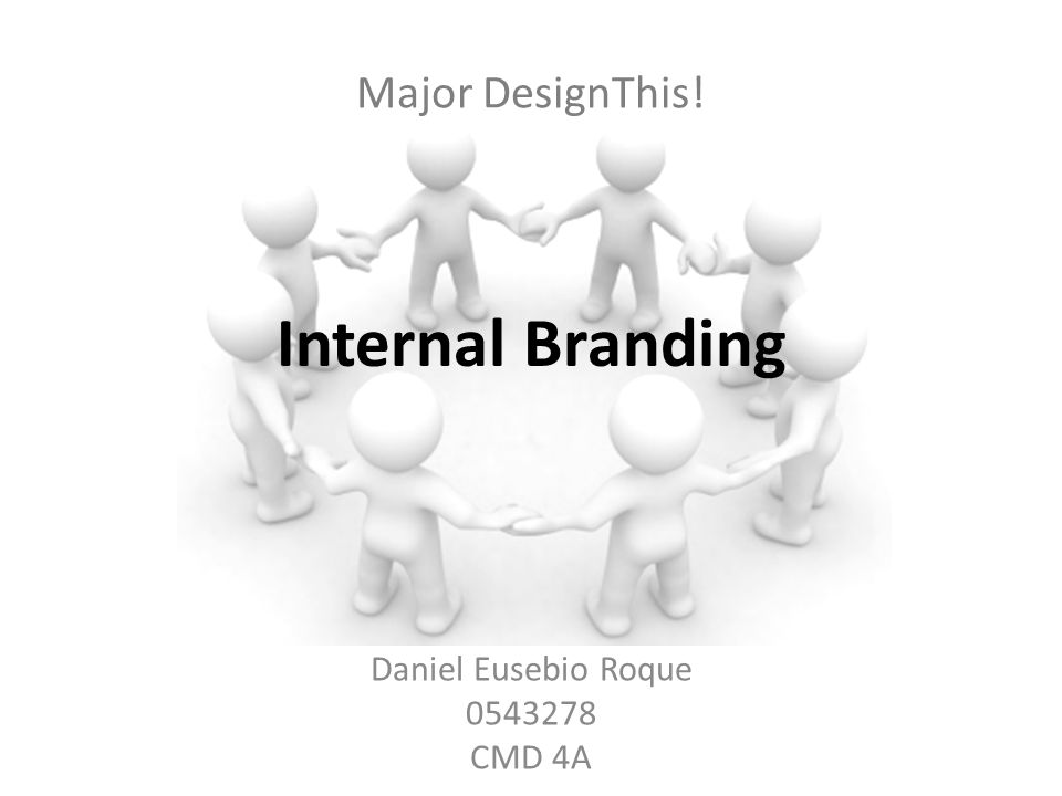 Major DesignThis! Daniel Eusebio Roque 0543278 CMD 4A Internal Branding