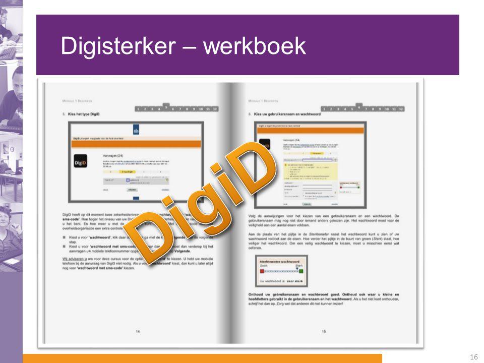 Digisterker – werkboek 16