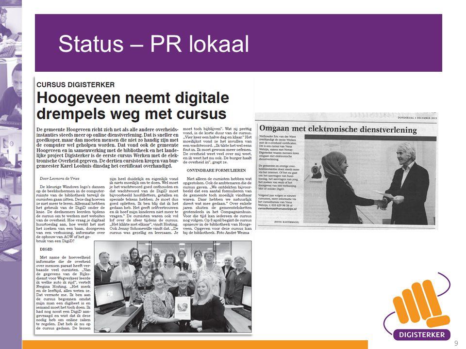 Status – PR lokaal 9