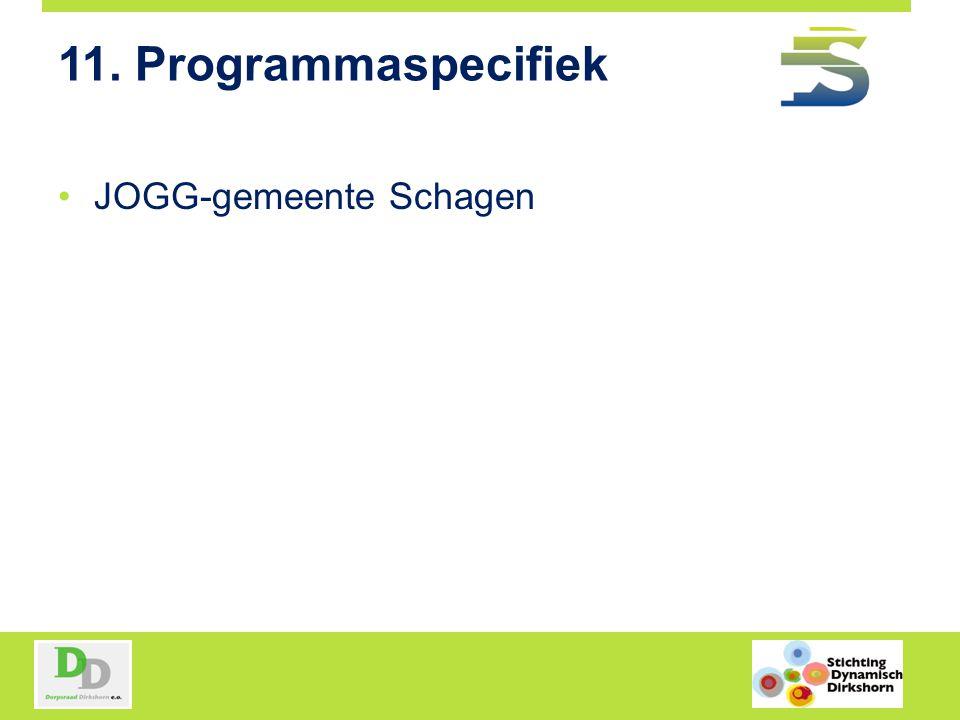 11. Programmaspecifiek JOGG-gemeente Schagen