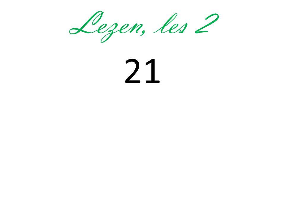 Lezen, les 2 21