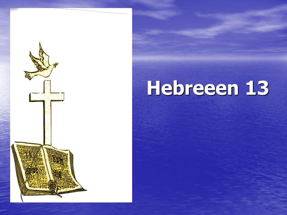 Hebreeen 13