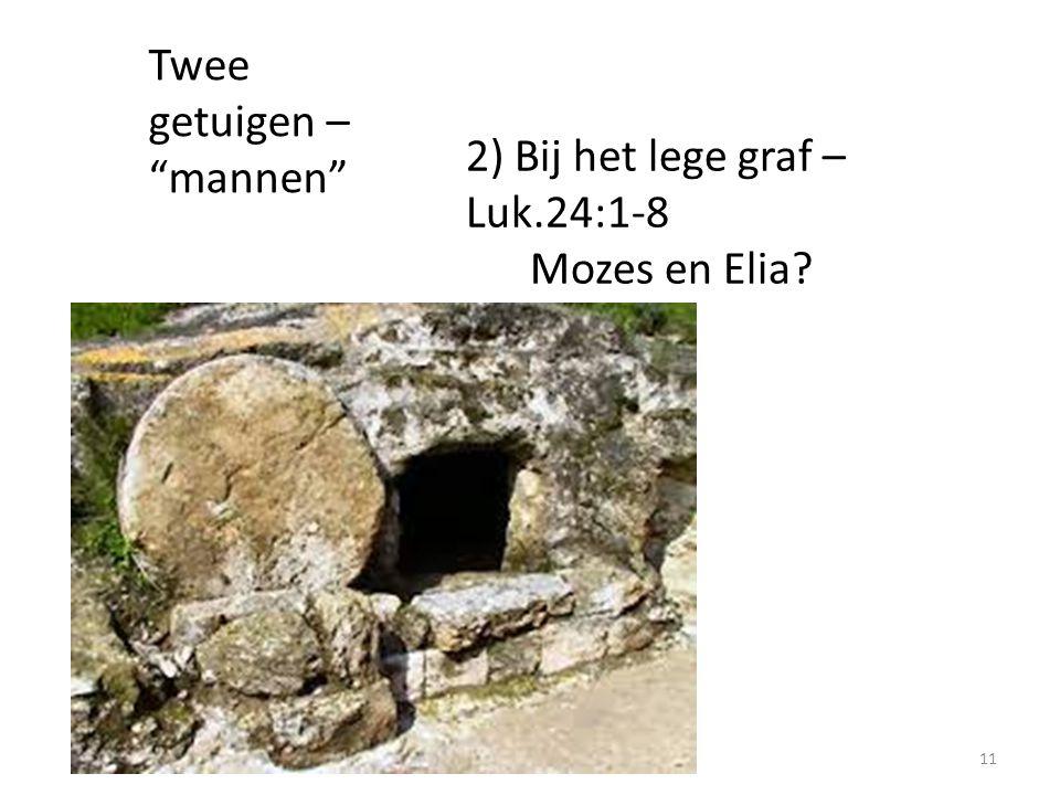 """Twee getuigen – """"mannen"""" 2) Bij het lege graf – Luk.24:1-8 Mozes en Elia? 11"""