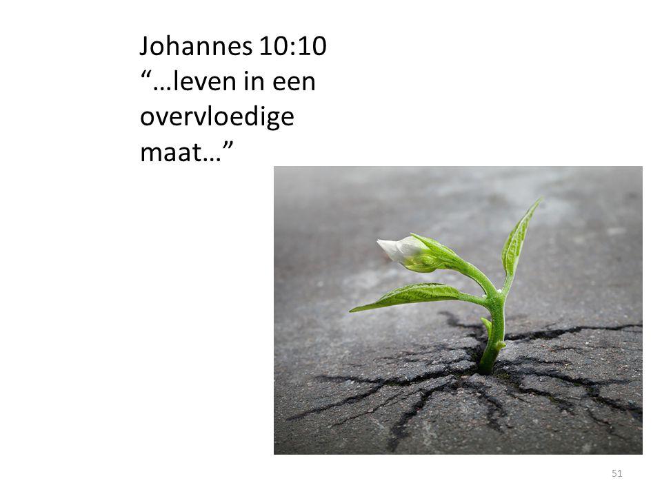 """Johannes 10:10 """"…leven in een overvloedige maat…"""" 51"""