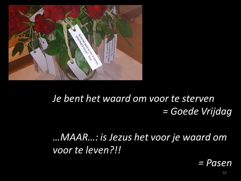Je bent het waard om voor te sterven = Goede Vrijdag …MAAR…: is Jezus het voor je waard om voor te leven?!! = Pasen 55