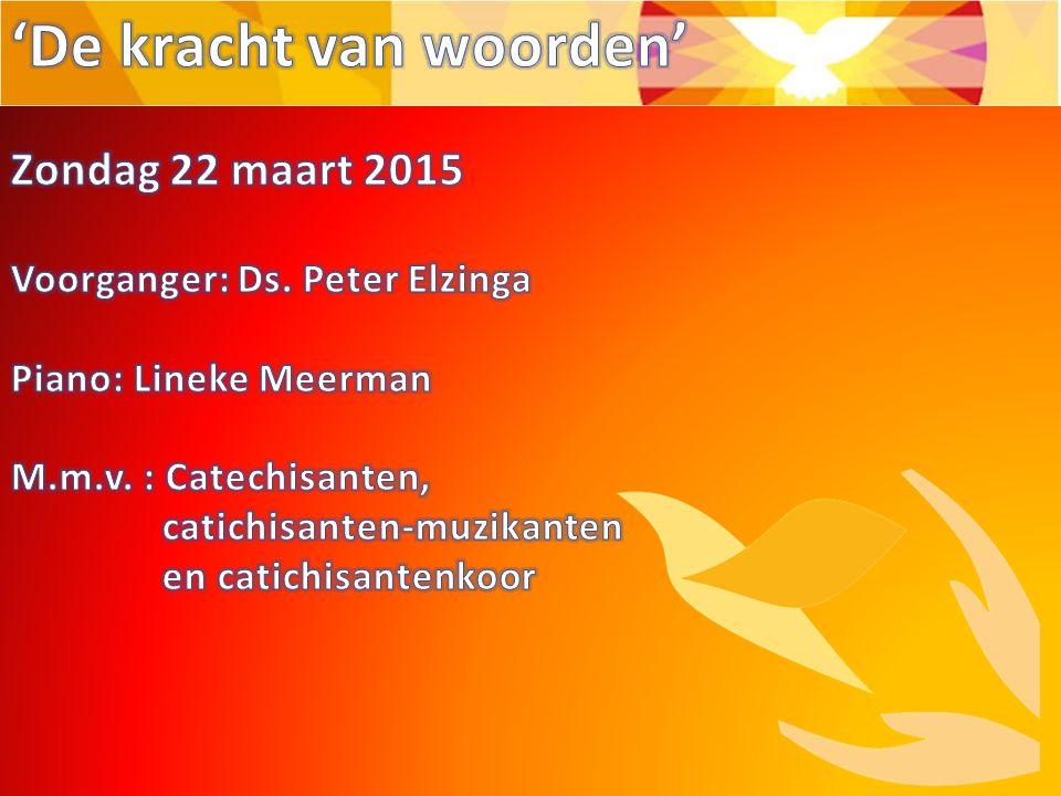 Uitleg over de paaskaarten-actie en informatie over/ uitnodiging voor springtime De kracht van woorden .