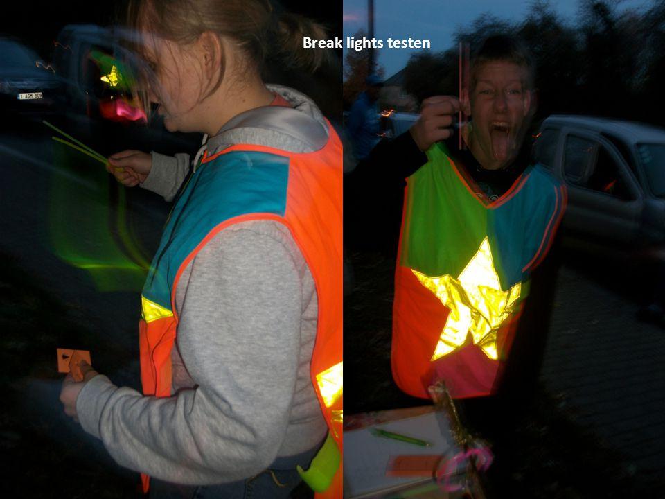 Break lights testen