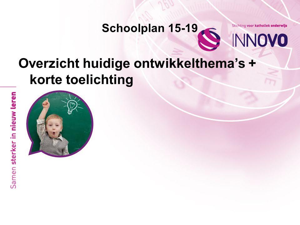 Schoolplan 15-19 Overzicht huidige ontwikkelthema's + korte toelichting
