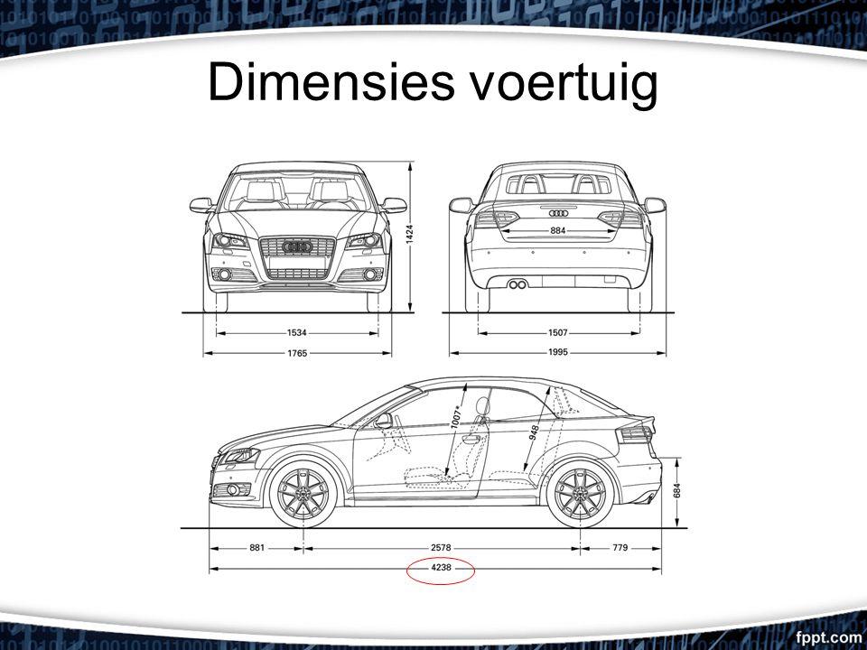 Dimensies voertuig