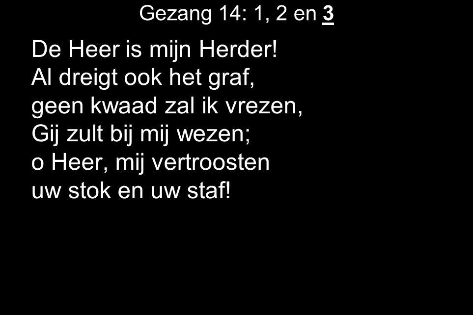Gezang 14: 1, 2 en 3 De Heer is mijn Herder.
