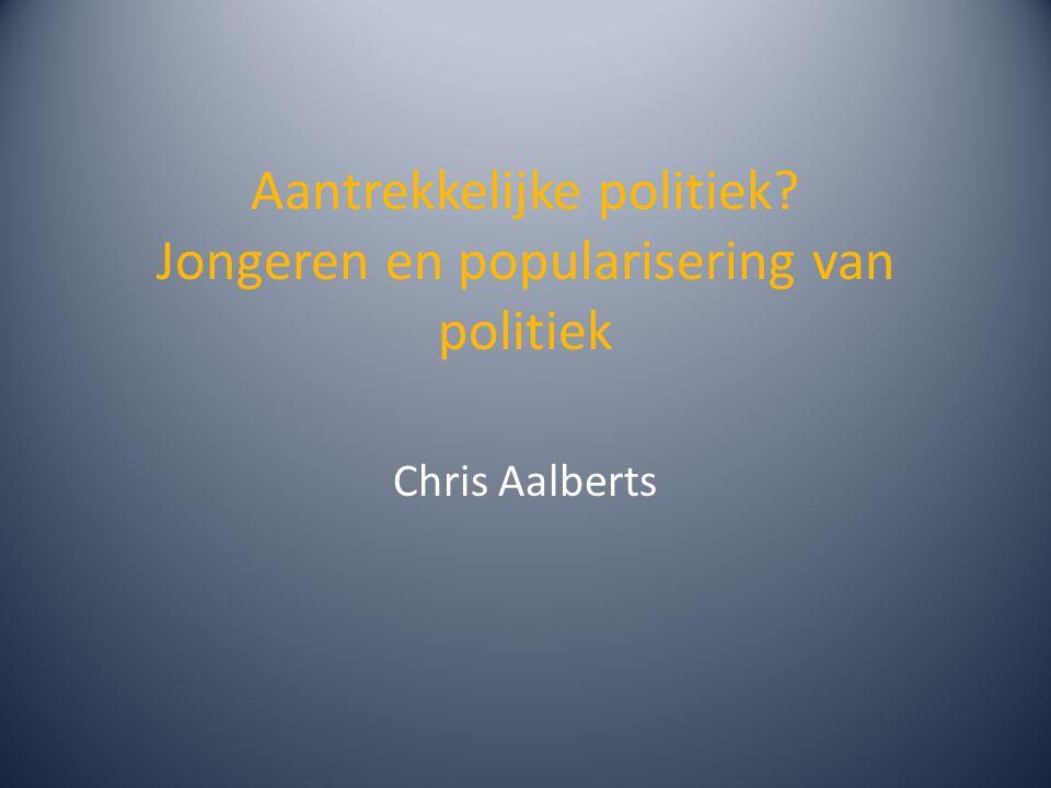 Aantrekkelijke politiek? Jongeren en popularisering van politiek Chris Aalberts