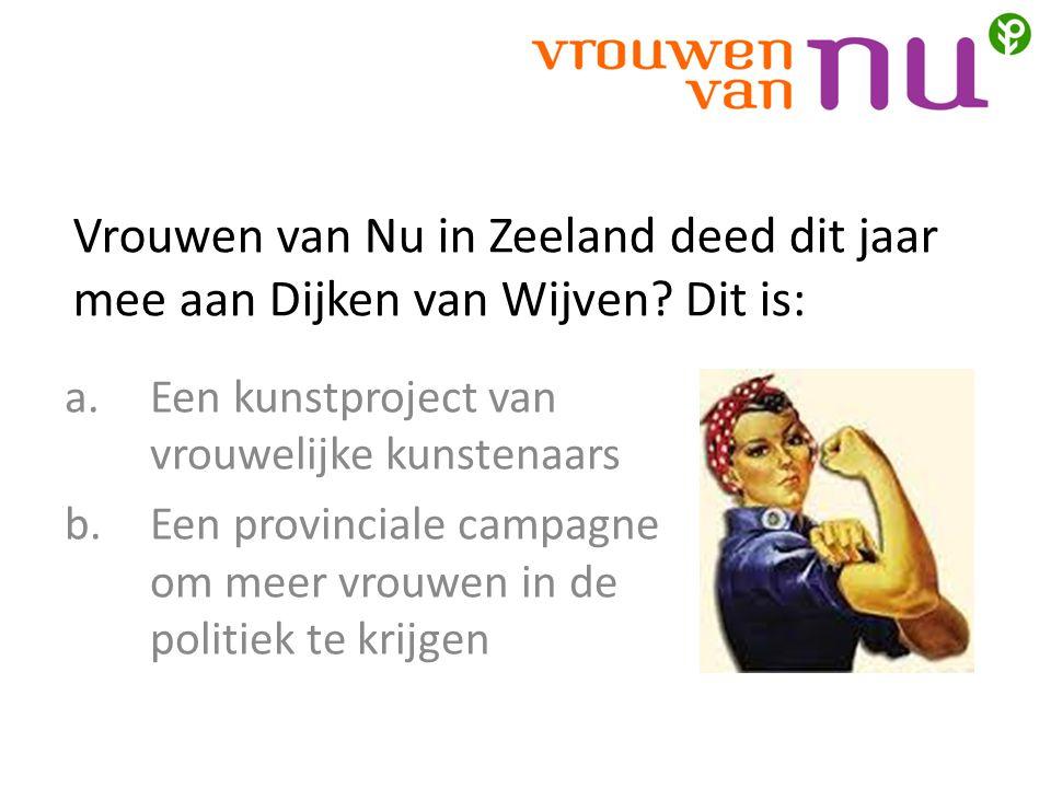 Vrouwen van Nu in Zeeland deed dit jaar mee aan Dijken van Wijven.