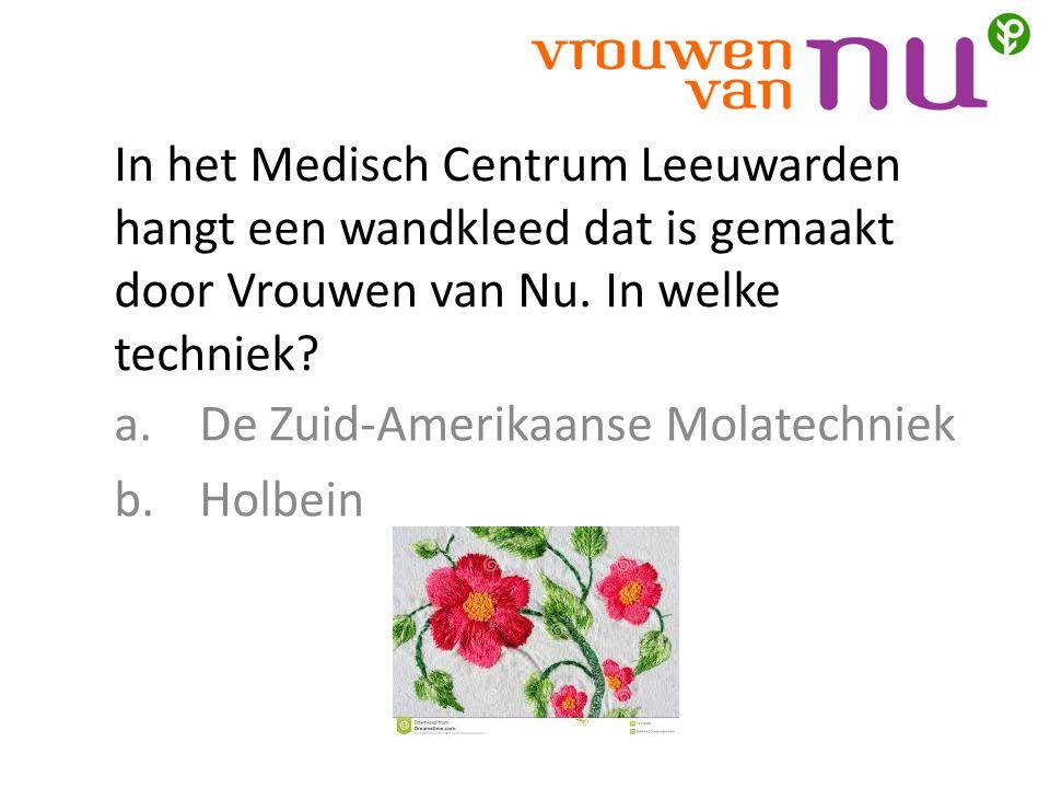 In het Medisch Centrum Leeuwarden hangt een wandkleed dat is gemaakt door Vrouwen van Nu.