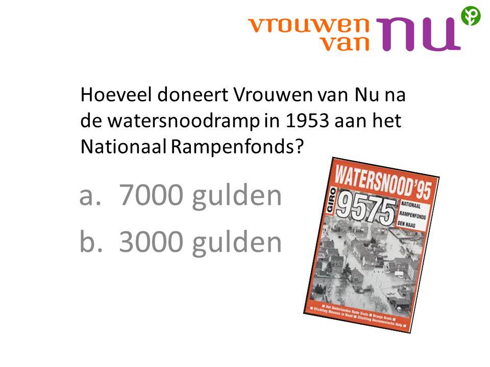 Hoeveel doneert Vrouwen van Nu na de watersnoodramp in 1953 aan het Nationaal Rampenfonds.