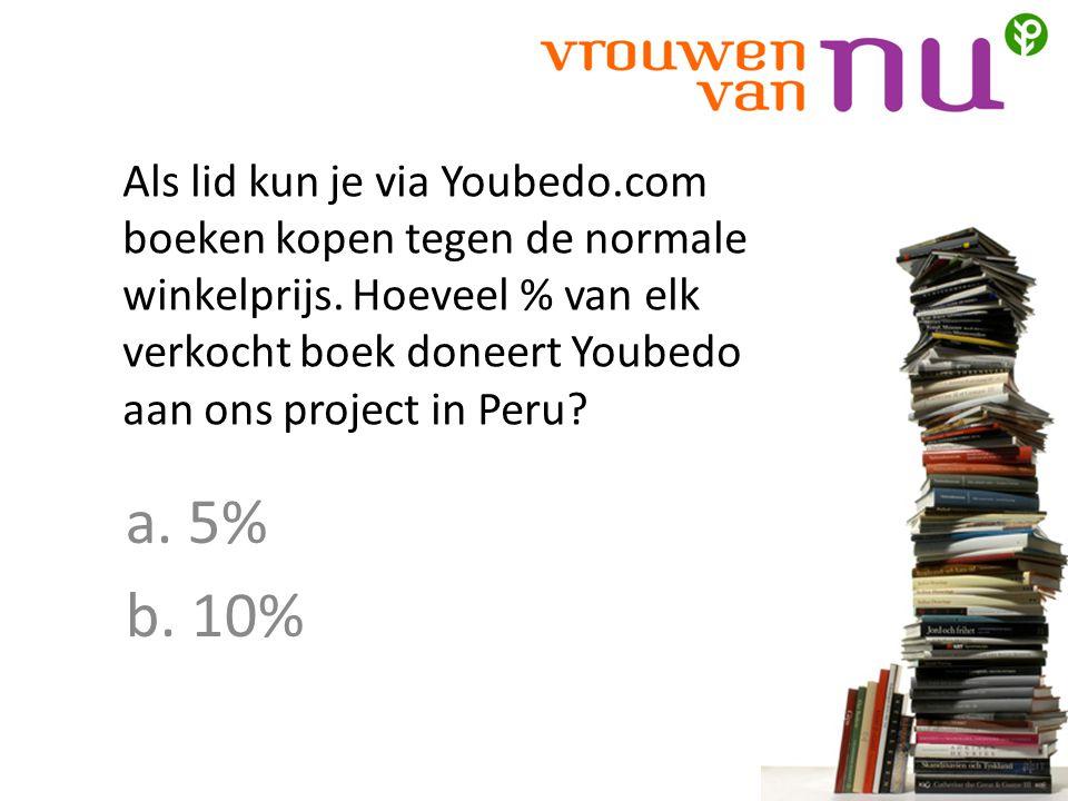 Als lid kun je via Youbedo.com boeken kopen tegen de normale winkelprijs.