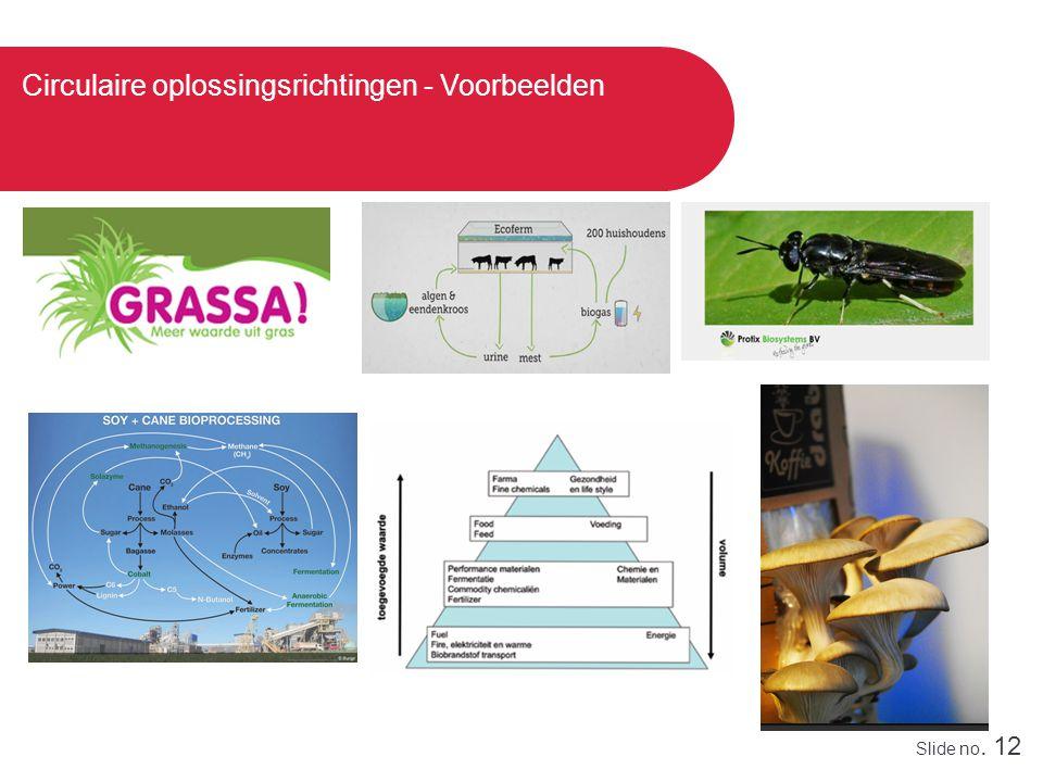 Slide no. 12 Circulaire oplossingsrichtingen - Voorbeelden