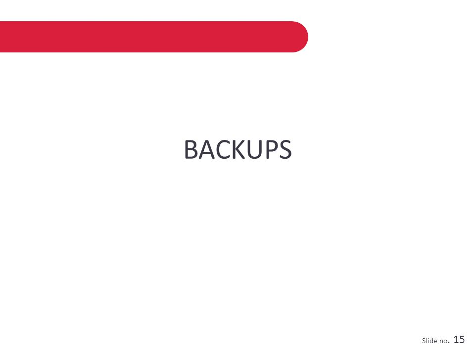 BACKUPS Slide no. 15