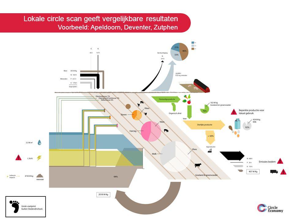 Lokale circle scan geeft vergelijkbare resultaten Voorbeeld: Apeldoorn, Deventer, Zutphen