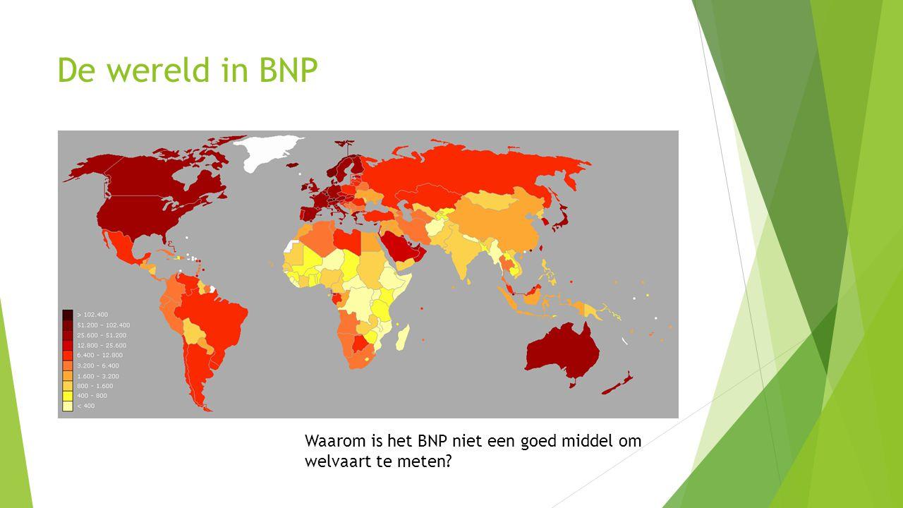 De wereld in BNP Waarom is het BNP niet een goed middel om welvaart te meten?