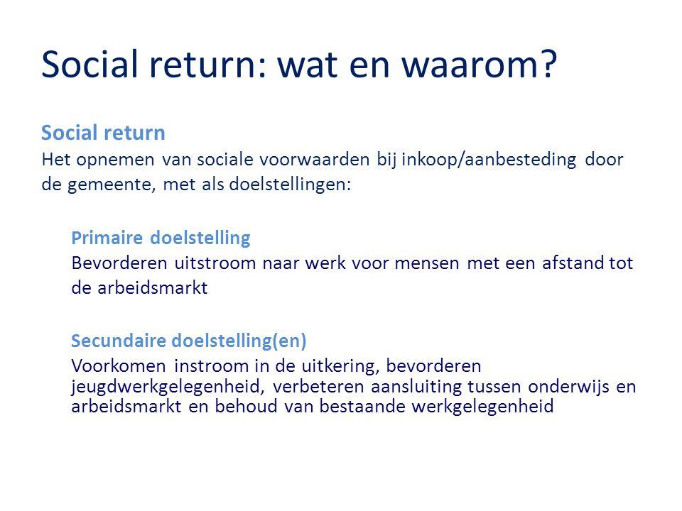 Samenwerking Ons advies 1.Kom zelf met voorstellen voor social return invulling 2.Blijf met ons in gesprek 3.Maak gebruik van onze dienstverlening voor werkgevers