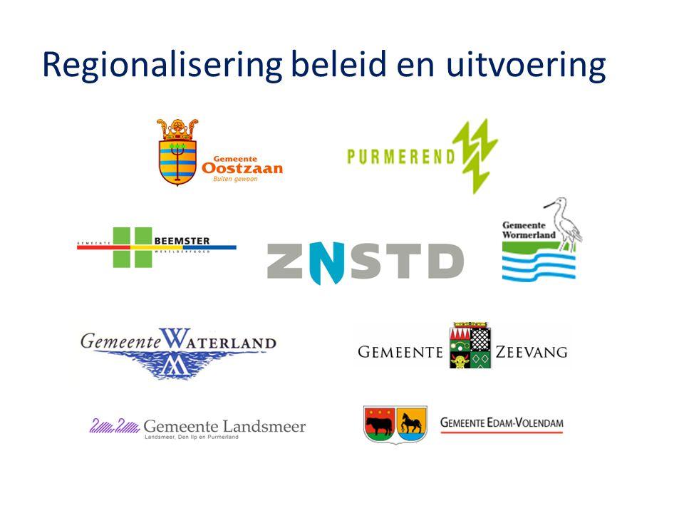 Regionalisering beleid en uitvoering