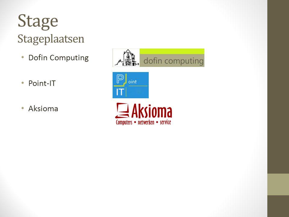 Stage Stageplaatsen Dofin Computing Point-IT Aksioma